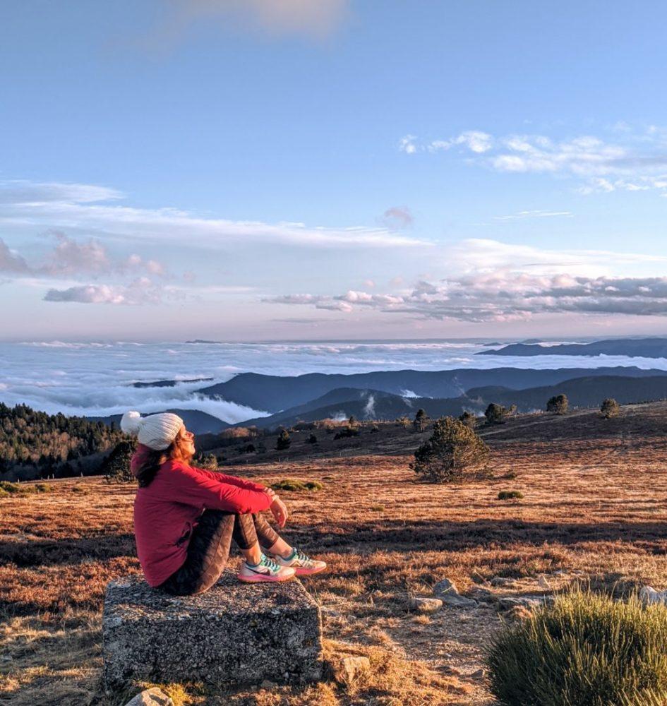 Sur le Mont Tanargue en fin de journée